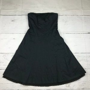 White House Black Market strapless A-line dress M2